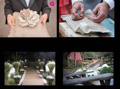 Almofada aliança, decoração cerimônia. Minhas inspirações.. e como foi! Amei! My wedding