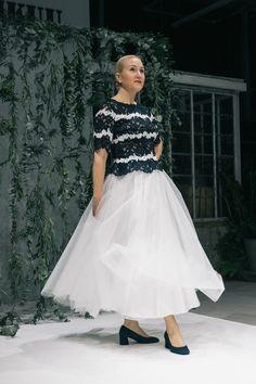 Muotikuu valkoinen tyllihame/ Muotikuu`s white tulle skirt.  Picture: Juuso Santala