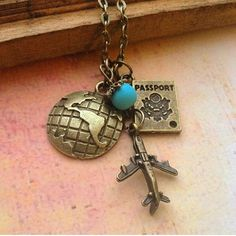 Travel airplane globe passport charm necklace by RedLanternDesigns. Perfect necklace for travelers! #etsy #etsysellers #etsycrafts #etsydesign #etsyjewelry #bridesmaid #bridal #bridesmaidjewelry #design #jewelry #handmade #handmadejewelry #vintage #vintagejewelry #antique #hipster #glam #glitz #fashion #fashionjewelry #fun #girlstuff #beauty #storenvy #craftsposure #etsyelite @etsyelite @craftsposure @etsyfashionhunter #igers #iphonesia #shop #instagrammers