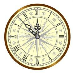 Antique clock Royalty Free Stock Vector Art Illustration