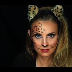 NEW VIDEO! Sexy Leopard Halloween makeup tutorial is now live! NEW VIDEO! Sexy Leopard Halloween makeup tutorial is now live! Click … – Halloween Make - Cheetah Makeup, Animal Makeup, Cat Makeup, Cheetah Face Paint, Cat Halloween Makeup, Halloween Make Up, Best Makeup Tutorials, Best Makeup Products, Ideas Maquillaje Carnaval