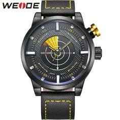 Leather Wristwatch LCD Quartz Dual Movement Analog Display Casual New Design Waterproof Men Watches