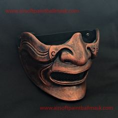 CUSTOM BB GUN AIRSOFT SAMURAI KNIGHT MASK ONI KABUKI HALF COVER HALLOWEEN COSTUME & COSPLAY MA216 we
