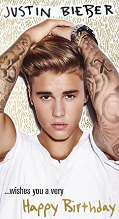 Justin Bieber Fold Out Happy Birthday Card...