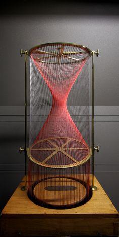 Geometric string model by Théodore Olivier String Installation, String Art Patterns, Math Art, 3d Laser, Thread Art, Lost Art, Wire Art, Art Lessons, Sculpture Art