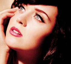 Katy Perry's beautiful face!  I just saw her on ET, and she seems to be turning back towards her God-centered roots :)