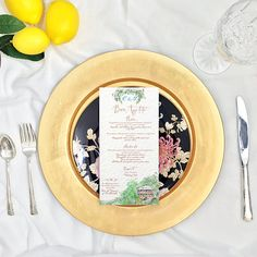 Custom Illustrated Watercolor Menu  Hand lettered and