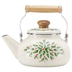 Lenox Holiday Enamel Tea Kettle