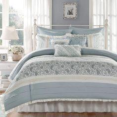 Madison Park Vanessa 9-pc. Duvet Cover Set. #bluebedding #beddingsets #afflnk #funkthishouse