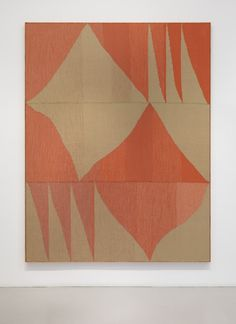Brent Wadden at Mitchell-Innes & Nash, New York   ARTnews ~ Wadden's labor-intensive process involves working handwoven fibers, yarn, wool, cotton, and acrylic on a floor loom to create abstract geometric paintings.