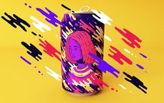 r a long time — I had this wish to design illustrations to get printed in a soda…
