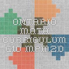 Ontario Math Curriculum - G10 - MPM2D - summary and notes for grade 10 math curriculum.