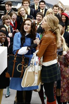 "Leighton Meester as Blair Waldorf and Blake Lively as Serena van der Woodsen ""The Blair Bitch Project"""