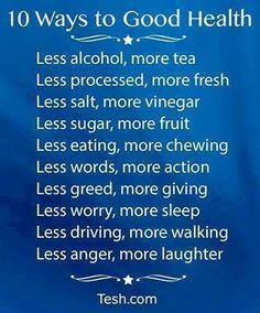 10 ways to good heal