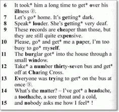Задание к теме английского с глаголом - to get - 060.