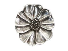 2 Danforth Wild Rose Metal Shank Buttons 7/8  inch  by ButtonJones, $7.60