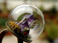 Amethyst Cluster Glass Globe Ring by ThePurpleArtichoke7 on Etsy