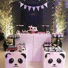 Panda Themed Party, Panda Birthday Party, Panda Party, Birthday Fun, Birthday Parties, Twin Baby Shower Theme, Fiesta Baby Shower, Birthday Party Decorations, Baby Shower Decorations