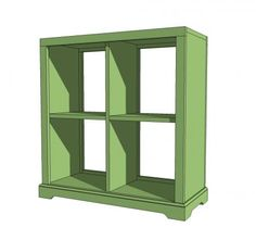 Ana white build a 4 cubby bookshelf or nightstand free and easy diy project