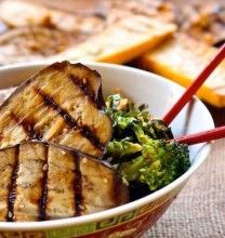 Grilled Sesame-Ginger Eggplant with Fried Rice