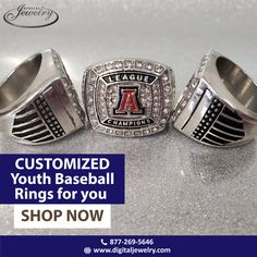 Are you a fan of youth baseball rings? Then customize one for you with the help of the right designers. For further details, visit Digital Jewelry. Baseball Ring, Championship Rings, Free Quotes, Are You The One, The Help, Class Ring, Shop Now, Cufflinks, Youth