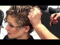 Como cortar cabelo cacheado super curto - YouTube