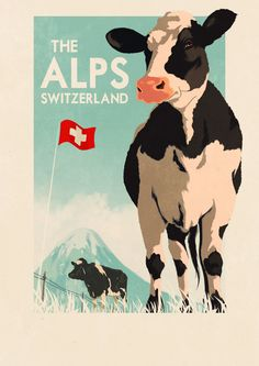 Switzerland - The Alps Art Print