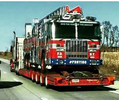 FDNY 150th Anniversary Commemorative Ladder Truck on its way to New York