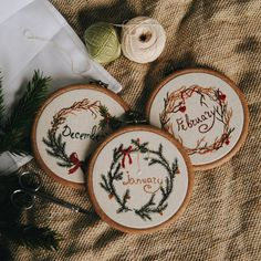 4,993 вподобань, 31 коментарів – Ellen Tyn (@liskin_dol) в Instagram: «Wall embroidery for every winter months are available on foxychest.etsy.com. ❄It will be a new…»