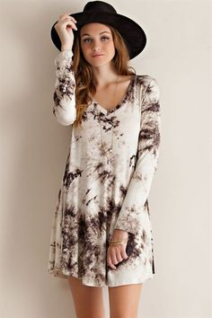To Dye For long sleeve dress – M.Lilly