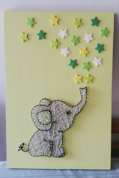 Elephant and stars string art..