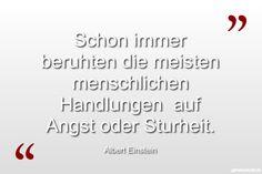 Schon immer beruhten die meisten menschlichen Handlungen  auf Angst oder Sturheit. ... gefunden auf https://www.geheimekraft.de/spruch/111
