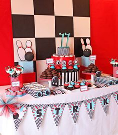 bowling party Birthday Party Ideas | Photo 1 of 70 | Catch My Party