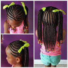 Easy little girl braid style