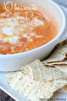 10 Minute Salsa Dip - perfect for a party!!