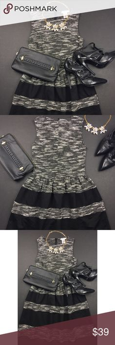 Bar III Grey and Black Color Block Dress Used in Excellent Condition/ No Trades/ No PayPal/ Smoke & Pet Free Home/ Please Ask Questions!/ Like what you see but the price too high? Make an offer! Bar III Dresses Mini