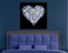 425.00 Canvas Art Diamond Heart Enchant your walls with our theme 'Diamond Heart'!