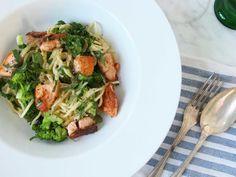 Pastasås med lax broccoli