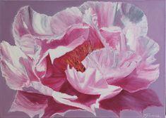 Modern Original Painting, Hand Painted Oil on Canvas. Body Painting, Watercolor Paintings, Original Paintings, Watercolour, Pastel Drawing, Large Flowers, Flower Art, Peonies, Floral