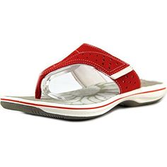 9ef07bd6f6e748 Clarks Womens Brinkley Star Flip Flop Sandal 7 BM US Red synthetic      Continue