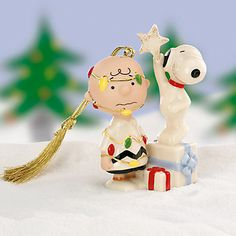 LENOX Ornaments: Animated Characters - CHARLIE BROWN Ornament - $16.95