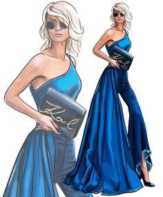 "884 Likes, 54 Comments - Анастасия Косьянова (@nastya_kosyanova) on Instagram: ""Fashion illustration Inspired by beautiful model @micahgianneli  #настявтворчестве #рисую…"""