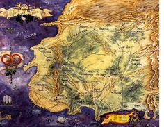 This x poster features the iconic map of Randland from The Wheel of Time series, painted by Elissa Mitchell. Fantasy Places, Fantasy Map, Fantasy Series, Fantasy Books, Fantasy World, Elias Und Laia, Wheel Of Times, Wheel Of Time Books, Robert Jordan