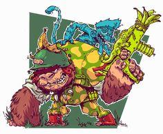 monsters 'n stuff: Sketch_Dailies: Sergeant Bananas...