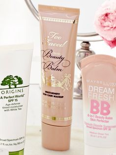 """""""This BB cream from Too Faced ($32) is specially formulated for sensitive skin."""" {several BB creams on the market now, Maybelline's version is highly rated also}"""