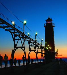 Grand Haven Michigan lighthouse,photo by Thomas Alexander,SleepingBear ImageWear