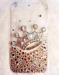 iPhone 4 case - iphone 5 case - Bling iphone 4 case - Crown iphone 4 case - Clear iPhone 4 / 5 crystal case best iphone case. $19.98, via Etsy.