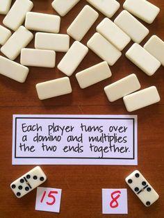 Onderwijs en zo voort ........: 3659. Tafels oefenen : Domino tafels oefenen