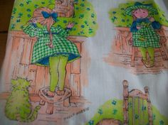 Vintage Women's Holly Hobbie Apron Smock retro by LittleMarin,
