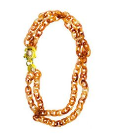 J. Crew Double-Strand Resin Link Frog Necklace
